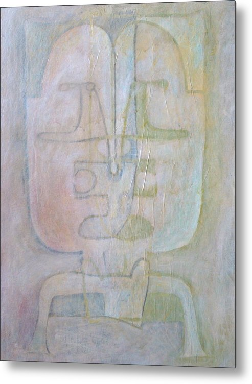 Abstract Faces Metal Print featuring the painting Till We Have Faces by W Todd Durrance