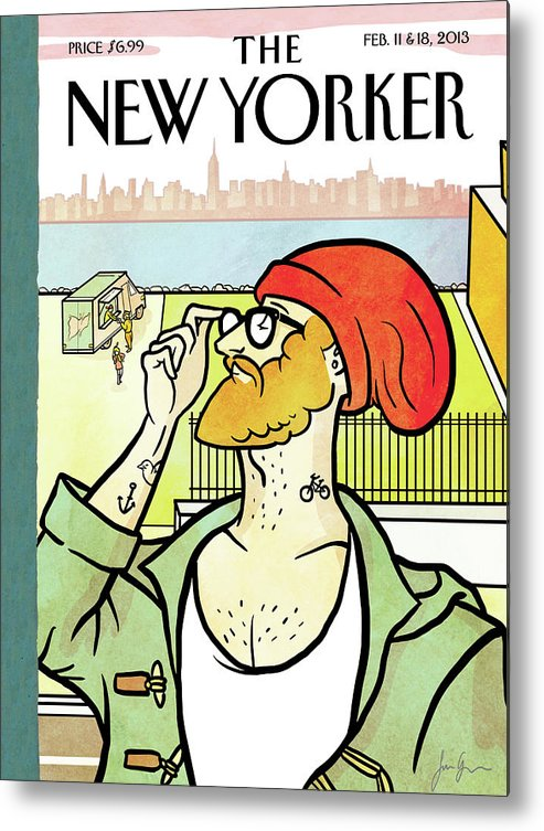 Brooklyn's Eustace Metal Print featuring the painting Brooklyn's Eustace by Simon Greiner