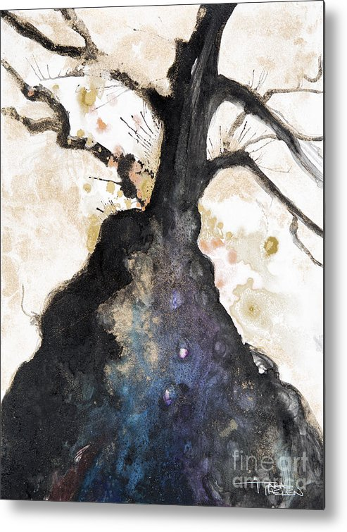 Abstract Metal Print featuring the painting Watercolor Branches by Tara Thelen