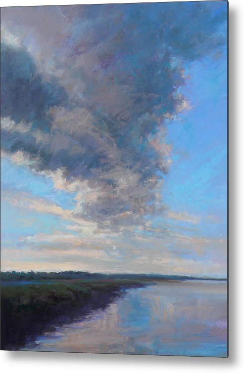 Clouds Metal Print featuring the painting Wayward by Ed Chesnovitch