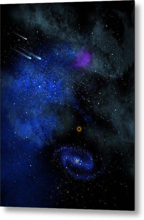 Wonders Of The Universe Mural Metal Print featuring the painting Wonders Of The Universe Mural by Frank Wilson