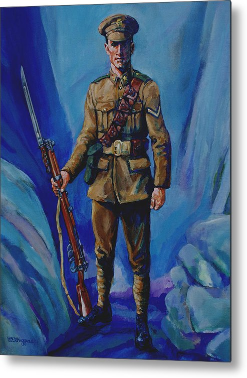 Soldier Metal Print featuring the painting Ww 1 Soldier by Derrick Higgins