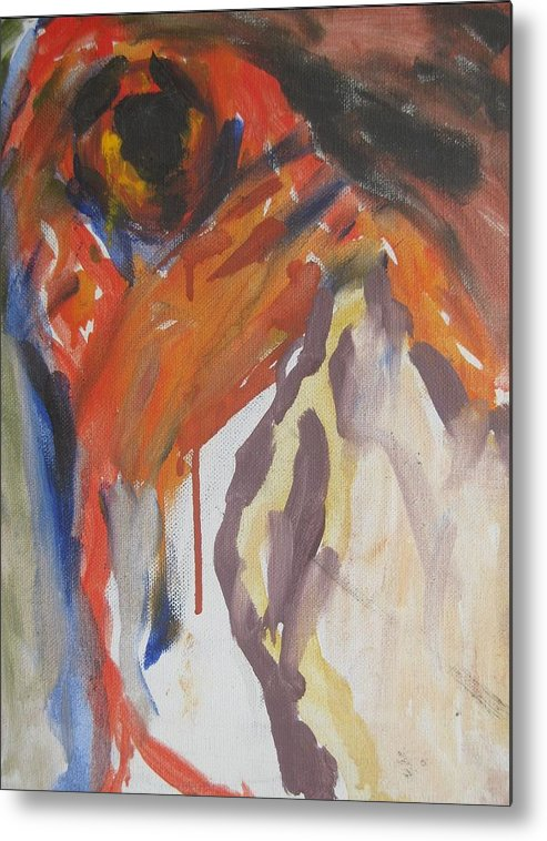 Fine Art Metal Print featuring the painting Untitled by Iris Gill