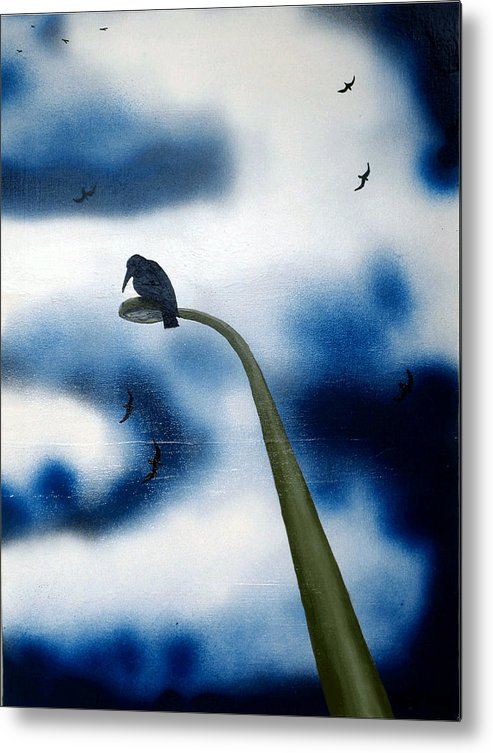 Metal Print featuring the painting birds of apocalypse III 1 by Poul Costinsky