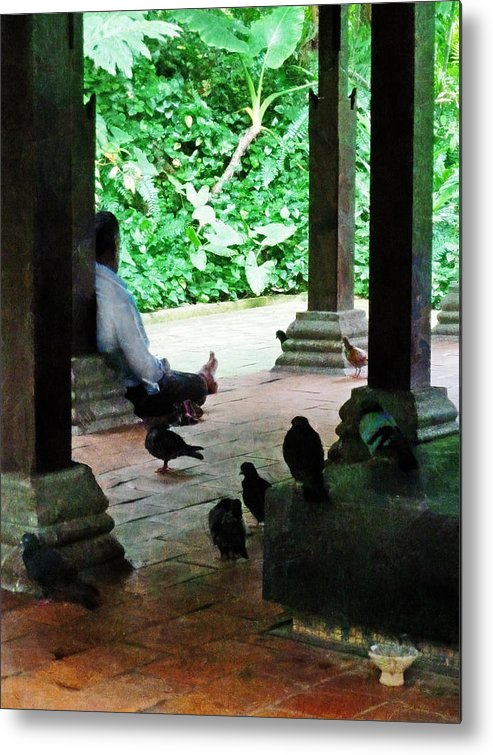 Commune Metal Print featuring the photograph Communing With The Birds by Steve Taylor