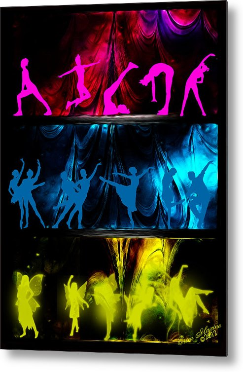 Dancers Metal Print featuring the digital art Different Strokes by Ericamaxine Price