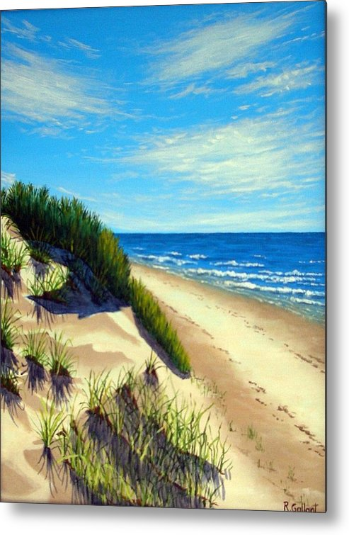 Seascape Metal Print featuring the painting Dunes At Dalvay by Rick Gallant