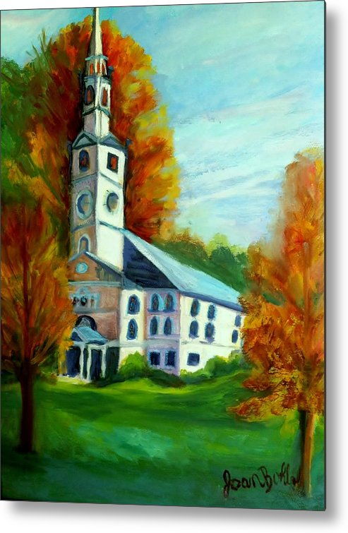Church Metal Print featuring the painting First Baptist Church Of America by Joan Bohls