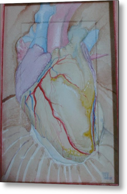 Heart Metal Print featuring the mixed media Heart by Jeremiah Dirt