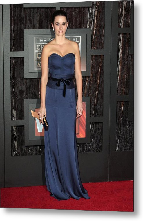 14th Annual Critics'' Choice Awards Metal Print featuring the photograph Penelope Cruz At Arrivals For 14th by Everett