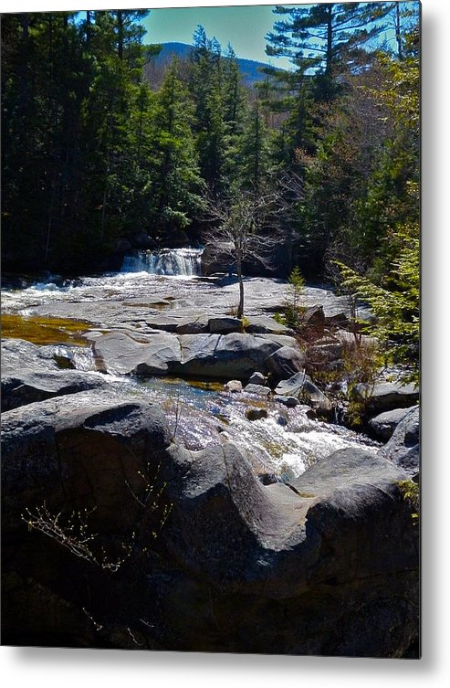 Landscape Metal Print featuring the photograph Screw Auger Falls Top by George Ramos