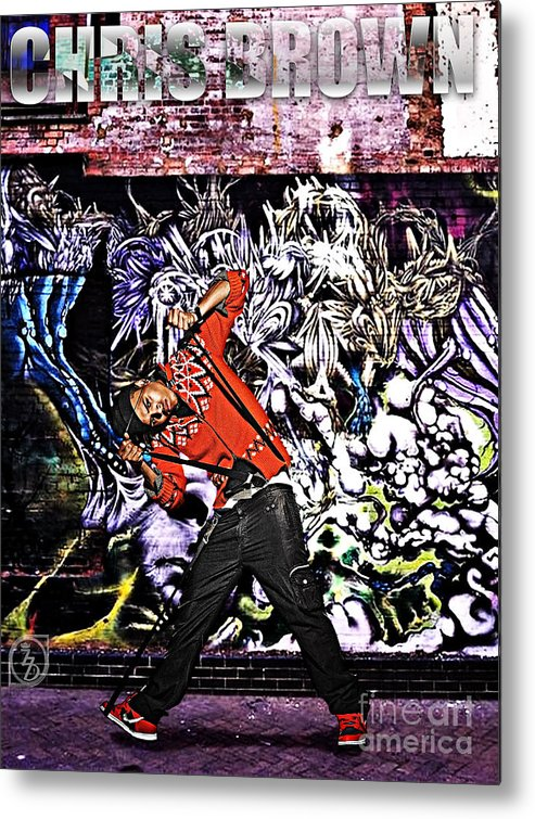 Chris Brown Metal Print featuring the digital art Street Phenomenon Chris Brown by The DigArtisT