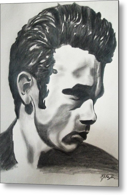 James Dean Portraits Metal Print featuring the drawing James Dean by Mikayla Ziegler