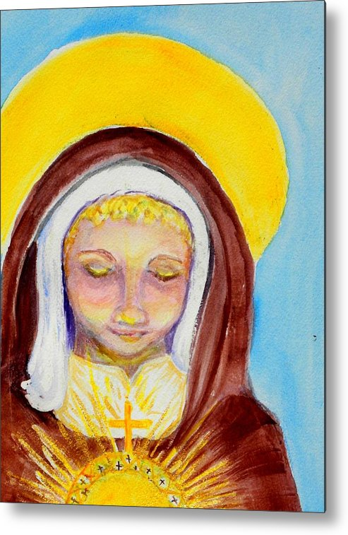 St. Clare Metal Print featuring the painting St. Clare Of Assisi by Susan Clark