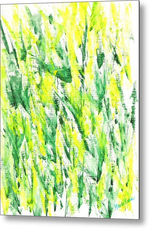 Abstract Painting Metal Print featuring the painting Abstract Flowers by Hema Rana