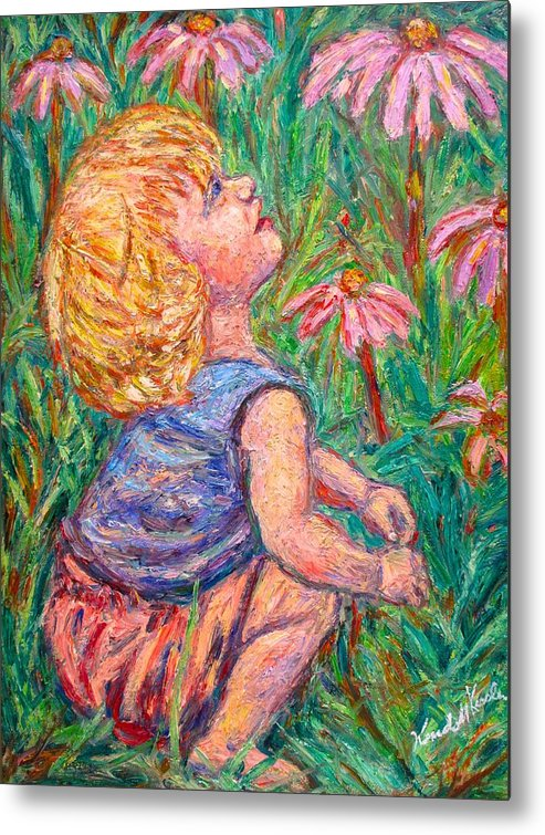 Child Metal Print featuring the painting A Beautiful Moment by Kendall Kessler