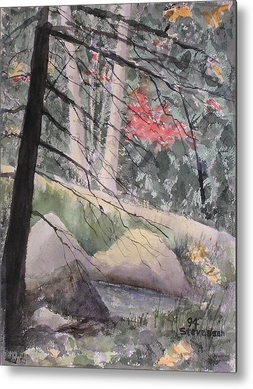 Forest Glen Metal Print featuring the painting Adirondacks by Joseph Stevenson