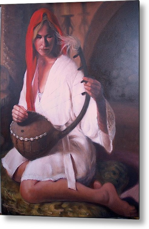 Realism Metal Print featuring the painting African Strings 2 by Donelli DiMaria