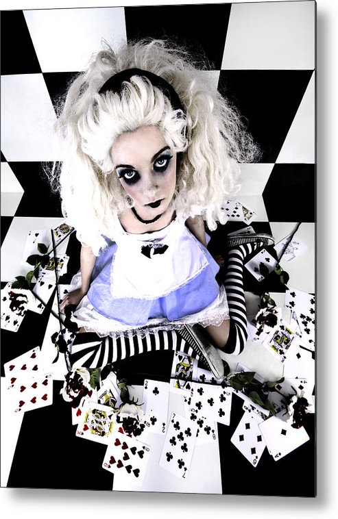 Alice In Wonderland Metal Print featuring the photograph Alice1 by Kelly Jade King