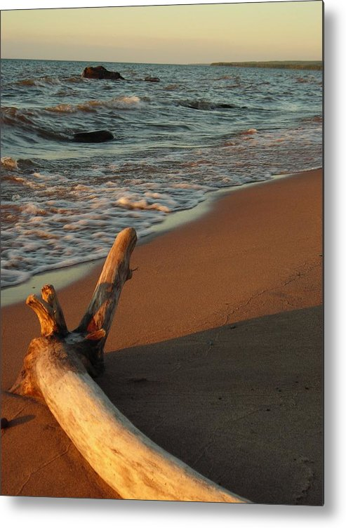 Beach Metal Print featuring the photograph All Alone by Peter Mowry