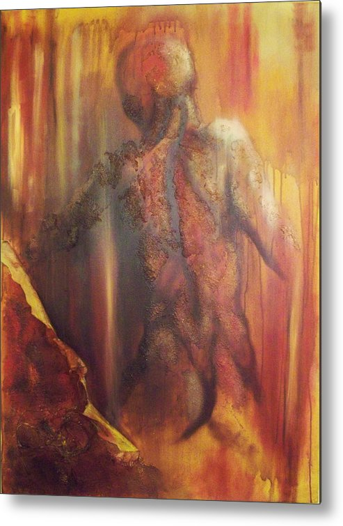 Original Paintings Metal Print featuring the painting Almost Beyond2 by Hoparte Gallery