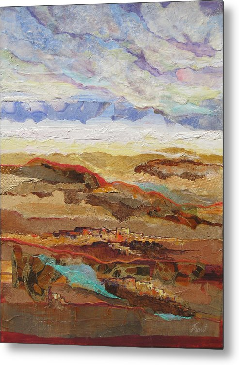 Abstracted Landscape Elements Metal Print featuring the painting Arizona Reflections Number One by Don Trout