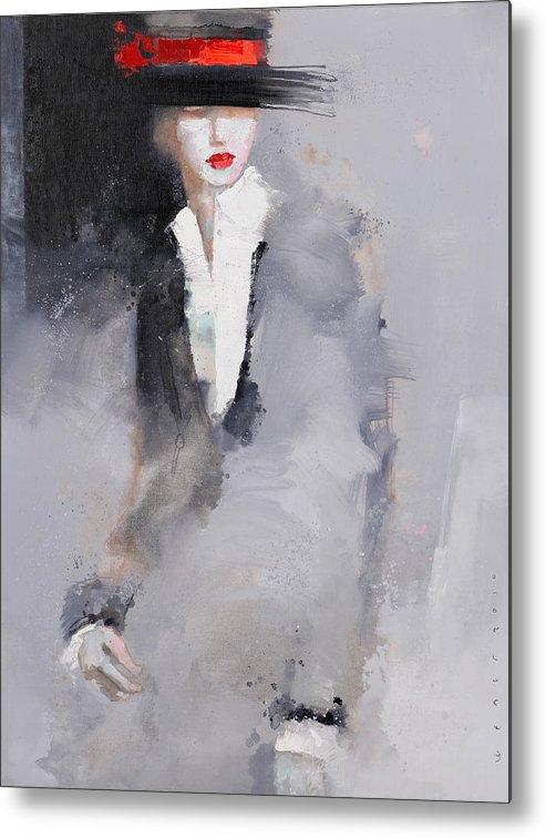 Girl Metal Print featuring the painting Photographed by Viktor Sheleg
