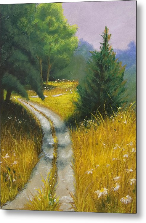 Landscape Metal Print featuring the painting Austin's Way by Wynn Creasy