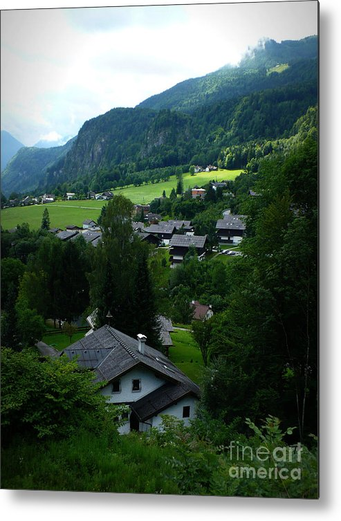 Austria Metal Print featuring the photograph Austrian Landscape by Carol Groenen