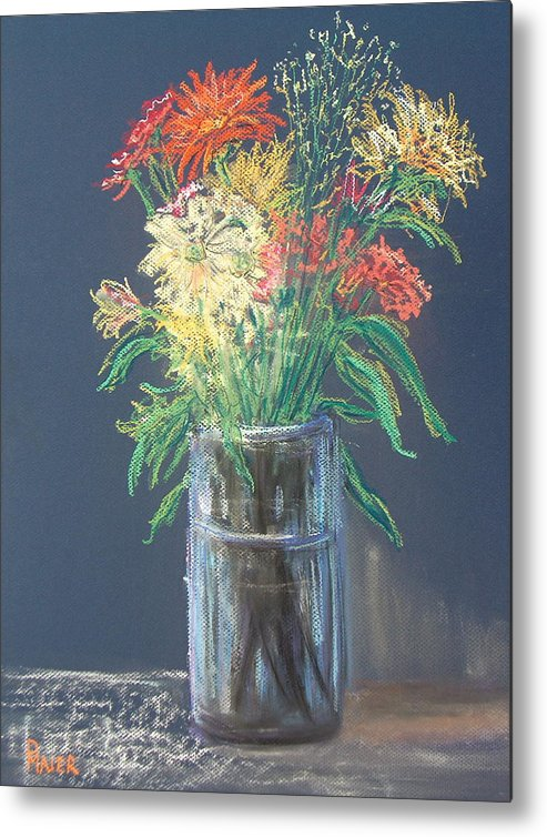 Stilllife Metal Print featuring the pastel Autumn Bouquet by Pete Maier