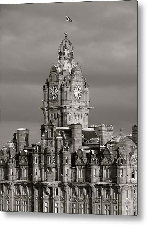 Scotland Metal Print featuring the photograph Balmoral Hotel by Staci-Jill Burnley