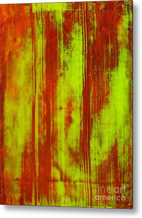 Abstract Art Metal Print featuring the painting Bamboo Spy 1 by Teo Santa