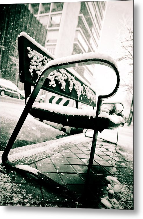 Snow Metal Print featuring the photograph Banco by Felix M Cobos
