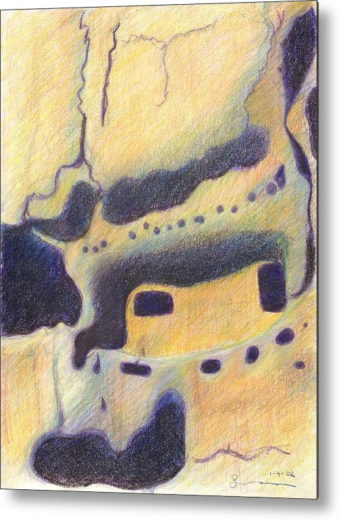 Bandelier National Monument Metal Print featuring the drawing Bandelier I by Harriet Emerson