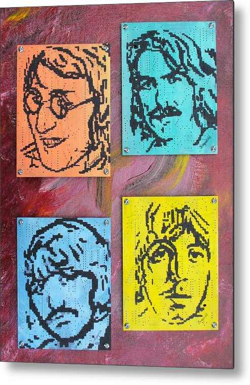 Beatles Metal Print featuring the painting Beatles Forever by Cary Singewald