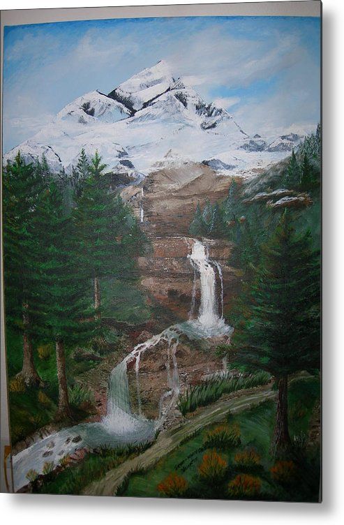 Landscape Metal Print featuring the painting Big White One by Jack Hampton