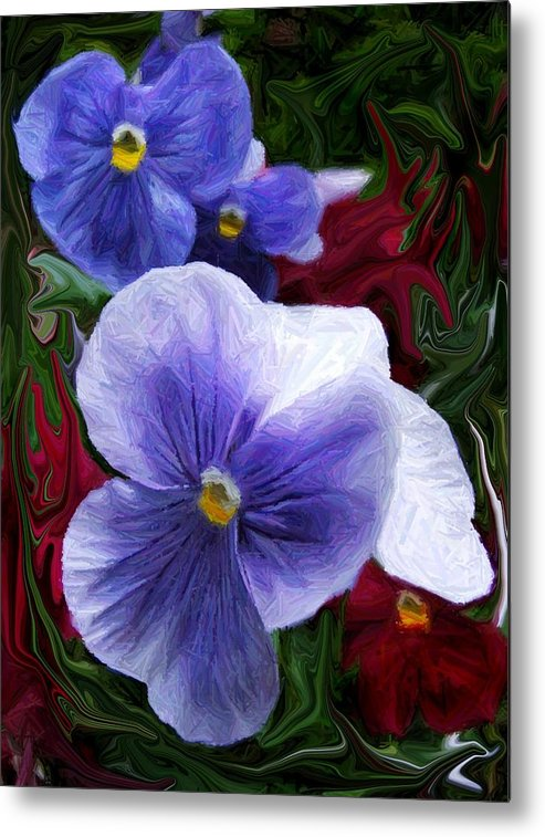 Flower Metal Print featuring the photograph Blue Boys by Jim Darnall