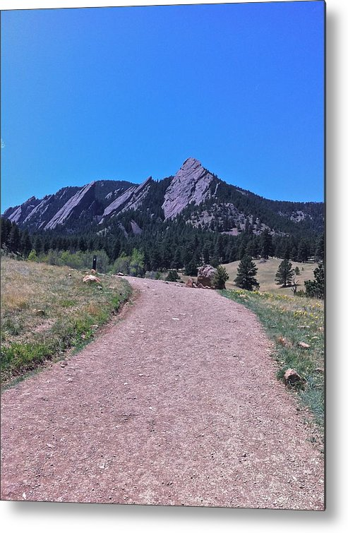 Boulder Colorado Flatirons Metal Print featuring the photograph Boulder Flatirons by Tim Conroy