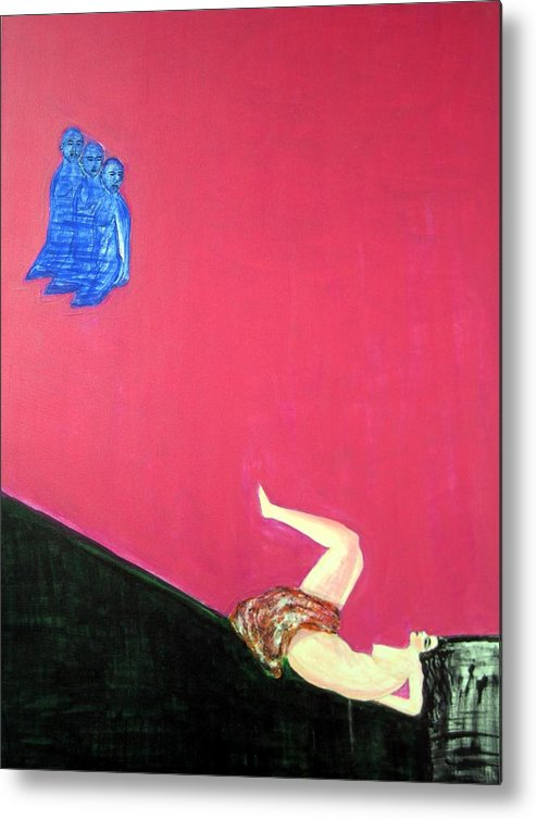 Violence.woman Metal Print featuring the painting Broken Dreams by Narayanan Ramachandran