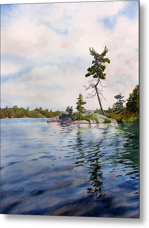 Lake Metal Print featuring the painting Canadian Shield Sculpture by Debbie Homewood