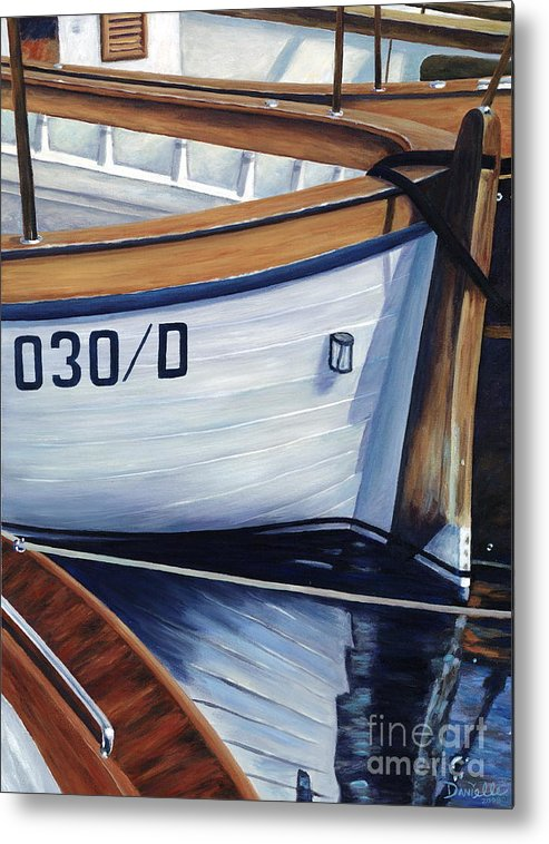 Nautical Metal Print featuring the painting Capri Boats by Danielle Perry
