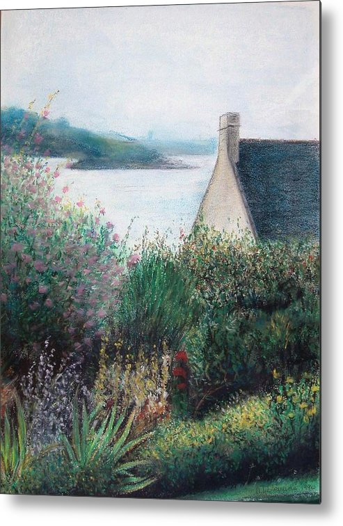 Landscape Metal Print featuring the painting Chausey by Muriel Dolemieux
