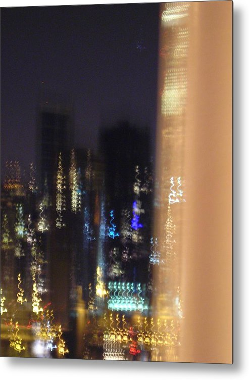 City Metal Print featuring the photograph City Flames by Peter Mowry