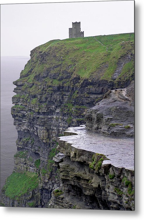 Cliff Metal Print featuring the photograph Cliffs Of Moher Ireland by Charles Harden