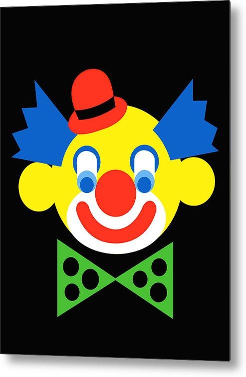 Clown Metal Print featuring the digital art Clown by Asbjorn Lonvig