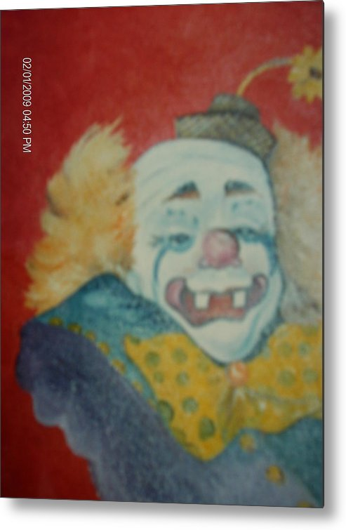 Clown Metal Print featuring the painting Clyde by Terry Lash