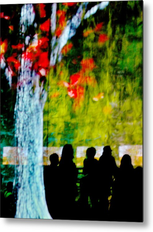 Sillhouettes Metal Print featuring the photograph Die Zuschauer - The Spectators by Linda McRae