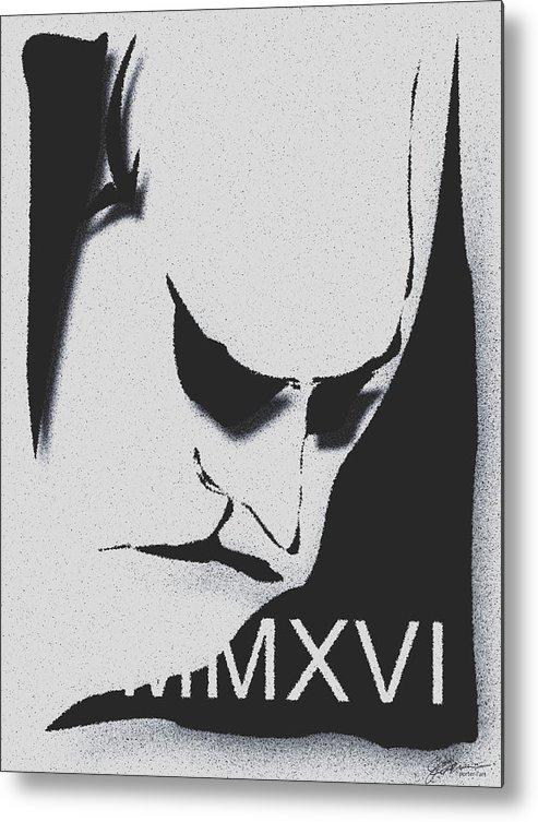 Jbwatkins Metal Print featuring the digital art Discusted Man 2016 by Jerry Watkins