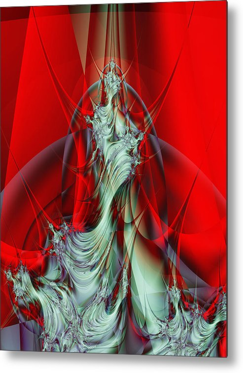 Fractal Metal Print featuring the digital art Diva by Frederic Durville