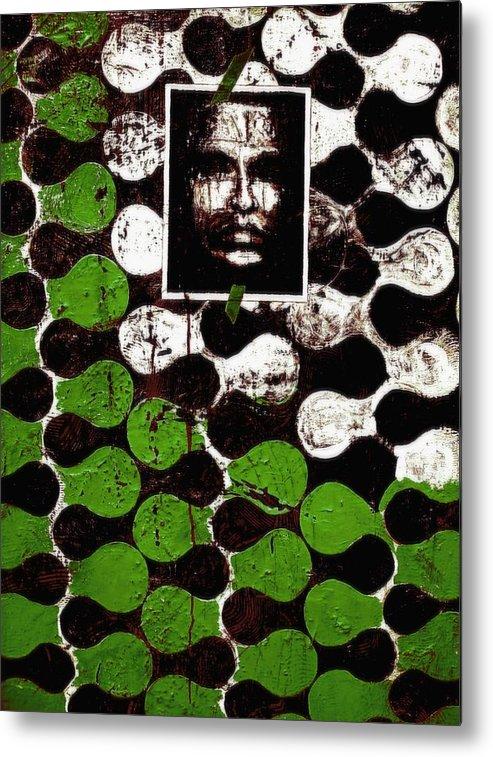 Mixed Media Prints Metal Print featuring the painting Dna Fingerprints by Teo Santa